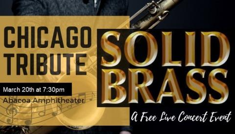 Solid Brass Chicago Tribute Band Concert Abacoa Amphitheater March 20, 2021