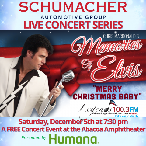 Chris MacDonald's Memories of Elvis Holiday Show Abacoa Amphitheatre December 5, 2020