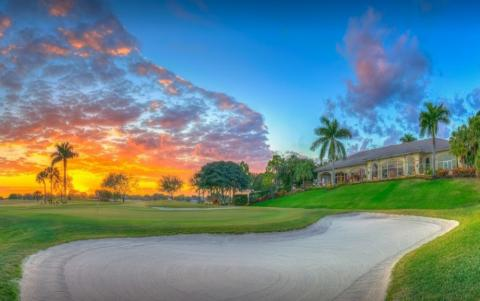 Abacoa Golf Club at sunset